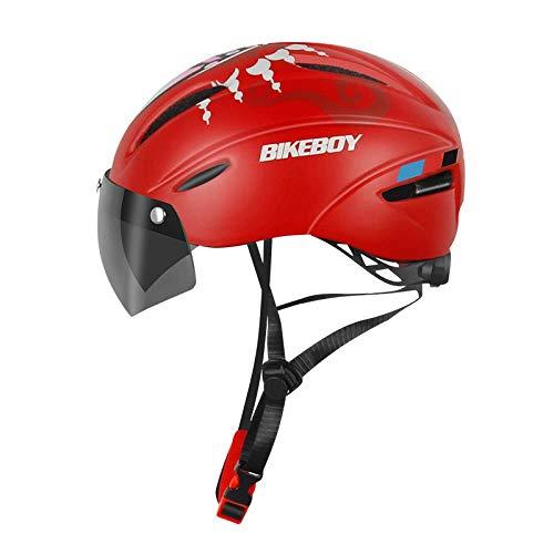 HONGSHENG Bicycle Riding Helmet Mountain Bike Detachable Lens Mountain Bike Integrated Helmet Safety Equipment