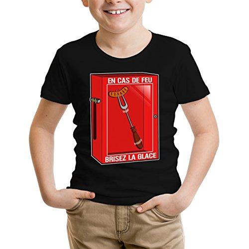 OKIWOKI kinderen T-shirt zwart Funny Parodieën Geek - Humor: in vuurschaal, breek het ijs! (Parodie Funny)