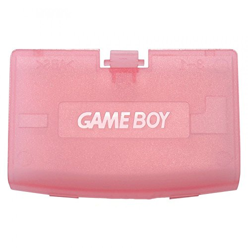 Plastic Battery Cover Door Part for Game Boy Advance GBA Clear Pink Color