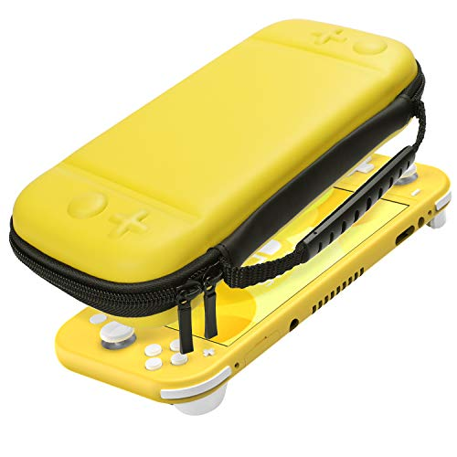 Case for Nintendo Switch Lite Jelly Comb Protective Hard Portable Travel Carry Case for Slim Nintendo Switch Lite Console& Accessories -Yellow