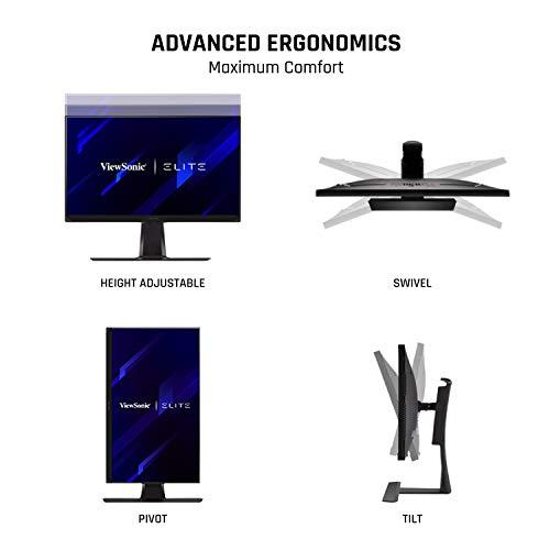 Viewsonic XG270QG 68,6 cm (27 Zoll) Gaming Monitor (WQHD, Nano IPS-Panel, 1 ms, 165 Hz, G-Sync, RGB Beleuchtung, HDMI, DisplayPort, Mouse Bungee, höhenverstellbar) schwarz - 8