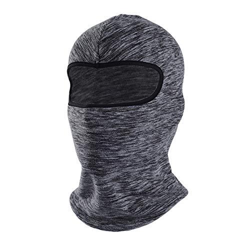 1 x Gesichtsschal, Sport-Kopfbedeckung, Halswärmer, Outdoor, Laufen, Radfahren, Kopfbedeckung, Stirnband, Fahrrad-Schal, Halstuch (Stil 1, Grau)