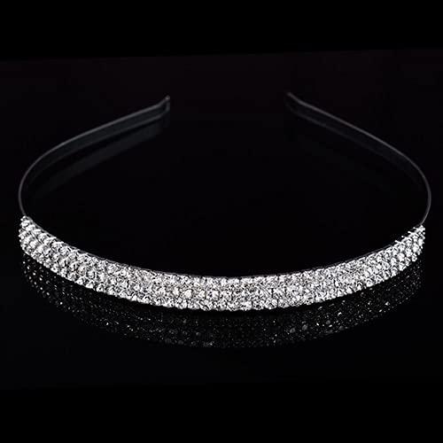 Taosheng Tocado de princesa para boda, novia, dama de honor, tocado corona, joyería de diamantes de imitación, adorno para el pelo de novia (color metálico: 12)