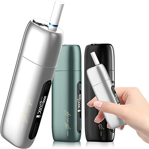 Pluscig P9 加熱式たばこ OLEDスクリーン 電子タバコ 互換機 50 本連続吸引 3500mAh大容量 電子たば スターターキット温度調整 時間調整 5秒予熱 自動クリーニング (ホワイト)