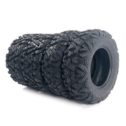"""Million Parts 4PCS All Terrain Tubeless ATV/UTV Tires 25"""" 25x8-12 Front & 25x10-12 Rear 6PR"""