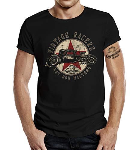 Rockabilly Hot Rod T-Shirt: Vintage Racers S