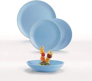 Luminarc 0883314737059 Colors Service de Table 18 pièces Diwali Light Turquoise-Bleu