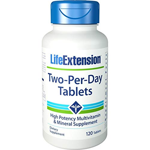 Life Extension Two-Per-Day Tablets - 120 - Multivitamin &Amp; Mineral, 1 Units
