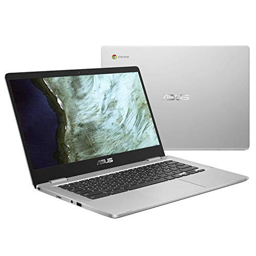 Asus Chromebook C423NABV0164 PC Portable 14' HD gris (Intel Celeron, RAM 8Go, EMMC 64Go, Chrome OS) Clavier AZERTY Français Ancien Modèle