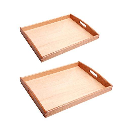 2 x Bandeja de Montessori de Rectángulo Forma Juguete Educativo Temprano de Niños de DIY