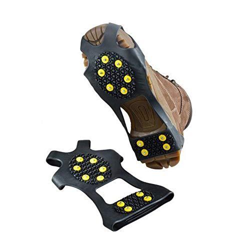 Cubierta De Zapato Antideslizante De Montañismo Simple Al Aire Libre De 10 Pines, Clip De Hielo De Invierno Antideslizante Retráctil, Clavos De Zapato Antideslizantes M