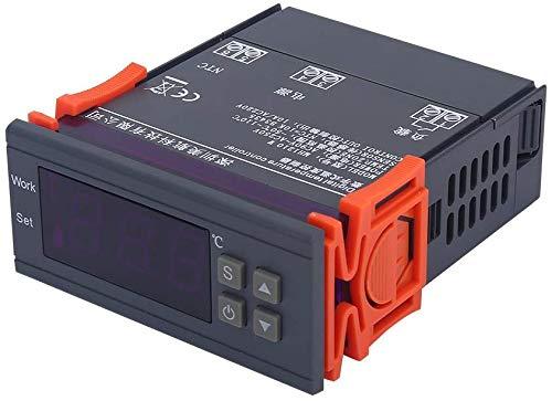 DollaTek Digitale mini-temperatuurregelaar, thermostaat met sensor, 50~110 °C, 220 V 10 A LCD-display, thermostaat voor koelkasten.