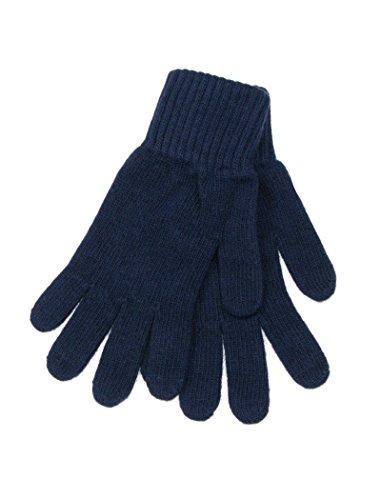 LOVARZI Männerhandschuhe aus Wolle Blau - Winterhandschuhe für Herren - Wolle handschuhe