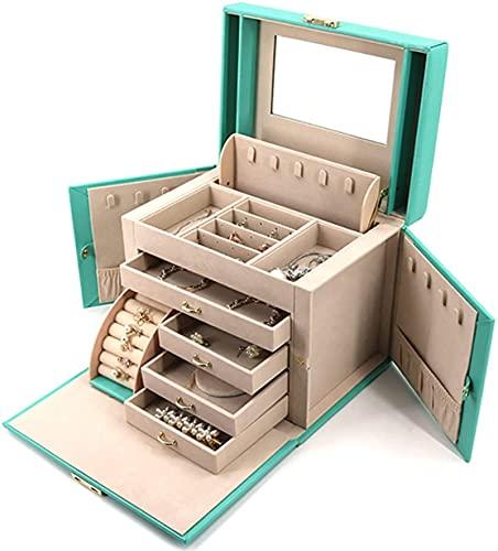 DAJIBABOY Jewelry Box for Women Girls Travel Case Collar Anillo Pendientes Organizador
