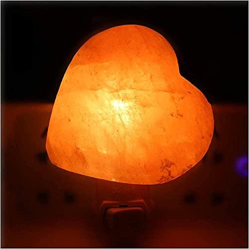 XiangRuiDa Lámpara de Sal de Roca Natural Himalayan Cristal Mini lámpara de Sal a Mano Tallada a Mano Cilindro Natural en Forma de Pared de Pared inalámbrica en luz de Noche Aroma y amp-AmorBeautiful