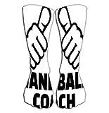 Men's Women Girls Novelty Funny Crew Socks 19.7'(50cm) handball coach thumbs design handball coach thumbs design