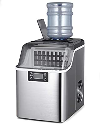 Northair Countertop Ice Maker 1 Gallon Square Ice 45lbs Daily Ice Cubes Ready in 20 Minutes with Ice Scoop