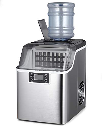 Northair Countertop Ice Maker 1 Gallon Self-Cleaning Square Ice 45lbs Daily Ice Cubes Ready in 20 Minutes with Ice Scoop
