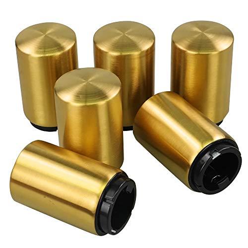 Vareone Cavatappi Apri Di Bottiglia Apribottiglie Birra Magnetico In Acciaio Inox, Colore Oro, Confezione Da 6