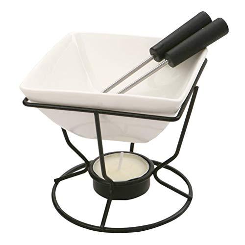 Hemoton Set di Pentole per Fonduta in Ceramica Forno di Fusione Al Cioccolato Set per Fonduta di Formaggio per La Cucina Domestica