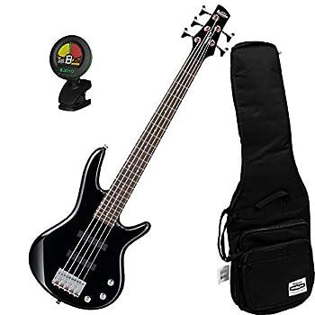 Ibanez GSRM25BK Black 5-String MIKRO Junior Bass Guitar w/Free Ibanez Gig Bag a