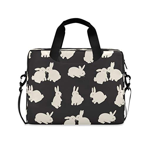 HMZXZ Laptop Bag Cute Rabbit Bunny Laptop Sleeves Case for 13 14 15.6 Inch Computer Tablet Briefcases Carrying Case Shoulder Bag for School Work