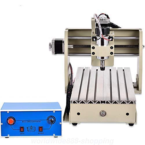 4 ejes 3020 CNC - Fresadora para grabado, fresadora portal, grabadora, zona de trabajo: 200 (X) mm x 300 mm x 45 mm