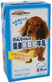 (まとめ)ドギーマンハヤシ わんちゃんの国産低脂肪牛乳 1000ml 【犬用・フード】【ペット用品】【×6セット】
