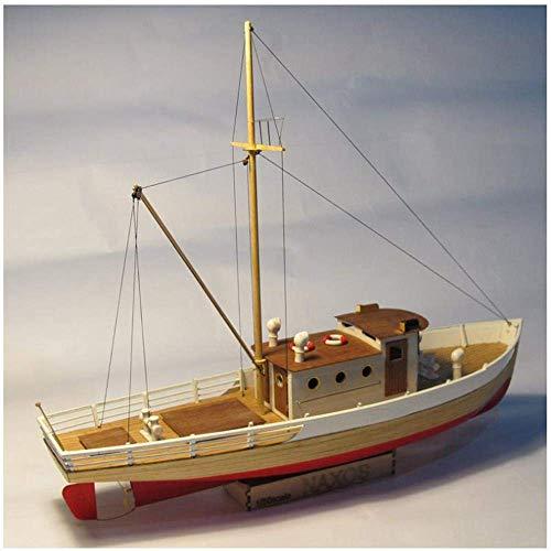 Massivholzmöbel Mittelmeer Segelboot Modell Simulation Schiff aus Holz Ornamente Glatte Wanddekoration Zubehör 1yess