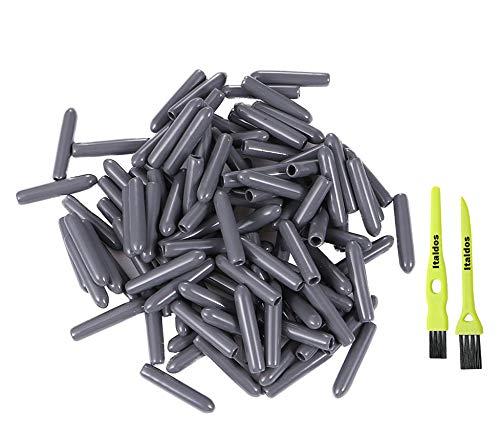 Italdos 150 Piezas Tapas para Estante Lavavajillas Tapas accesorios universal de Lavavajillas diámetro 3mm - Repuestos de Protección Extra Fuerte contra la Oxidación (Gris)