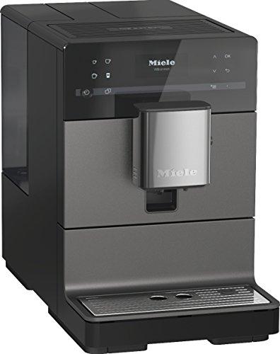 Miele CM 5500 Kaffeevollautomat (OneTouch- und OneTouch for Two-Zubereitung, 2 Genießerprofile, automatische Spülprogramme, komfortable Reinigungsprogramme, Edelstahl-Kegelmahlwerk), grau