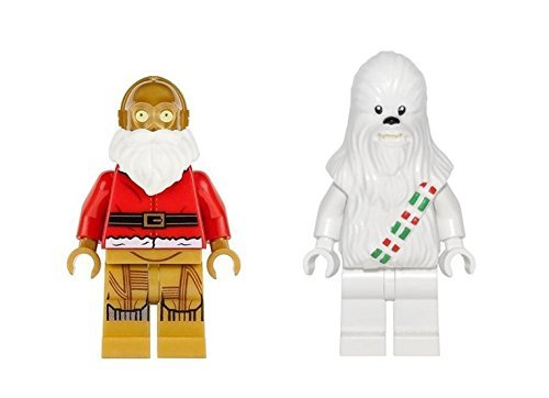 LEGO C-3PO Santa and Snow Chewbacca Minifigures Star Wars Holiday