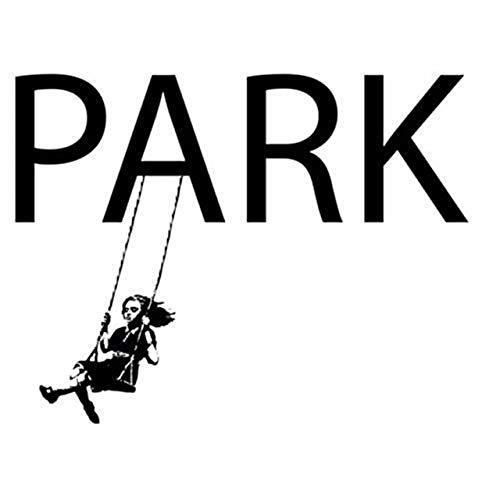 Wandtattoo Mädchen auf Schaukel Banksy Style Decal Art Grafitti [Größe: 78x101 cm]