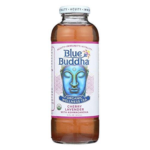 Blue Buddha Organic Wellness Tea - Cherry Lavender with Ashwagandha - Case of 12 - 14 oz. - Pack of 12