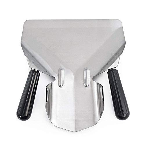 funihut - Pala per friggere con Manico in plastica, Paletta per Patatine Fritte a Doppia Maniglia, Acciaio Inossidabile, Funzionamento Semplice, Anti-scottatura, 19,5 x 23,8 cm