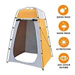 Sunneey Portable Outdoor Shower Tent, Mobile Dressing Room, Removable Toilet Tent, Privacy Tents/Fishing And Camping Tents Anti-UV/Waterproof/With Storage Bag 47.24 X 47.24 X 70.87inch 6