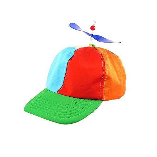 Minyzuo Sombrero de Helice para Adultos, niños, Sombreros de béisbol Coloridos con Motivos de Helice Bambú Dragonfly Sun Hat Gorra Snapback