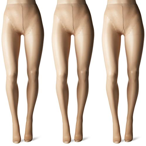HUE Women's So Sexy Sheer  Toeless Hosiery ,Natural, Size 2 (Pack of 3)
