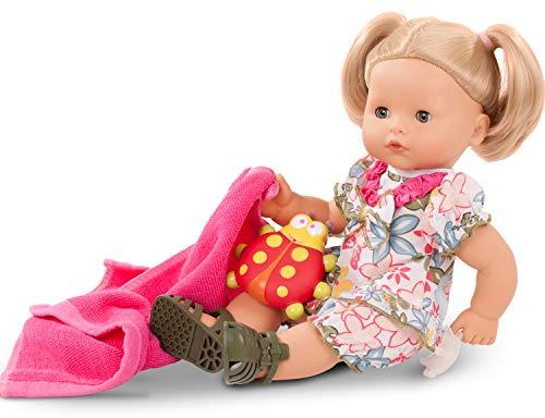 Götz 2118245 Maxy Aquini Minimaxi Badepuppe - 42 cm Puppe - Blonde Haare, Blaue Schlafaugen - 8-teiliges Set - Mädchen-Babypuppe