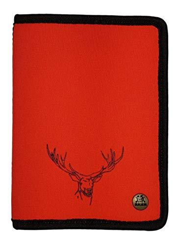 Akah - Estuche para billetes de caza (neopreno), diseño de ciervo, color naranja