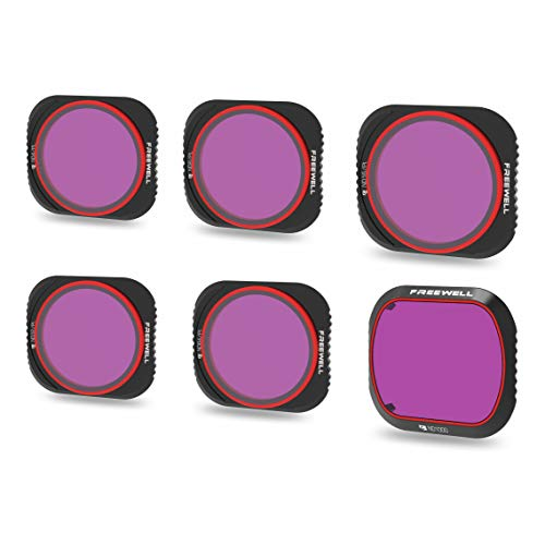 Freewell Limited Edition - 4K-Serie - 6er Pack ND4/PL, ND8/PL, ND16/PL, ND32/PL, ND64/PL, ND1000 Objektiv Filter Kompatibel Mit Mavic 2 Pro Drone