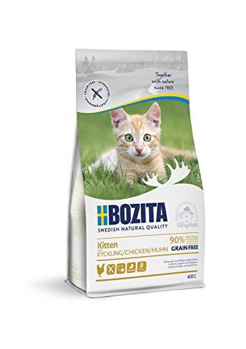 BOZITA Kitten Getreidefrei Hühnchen - Trockenfutter für Kitten, junge Katzen und säugende Muttertiere, 0.4 kg