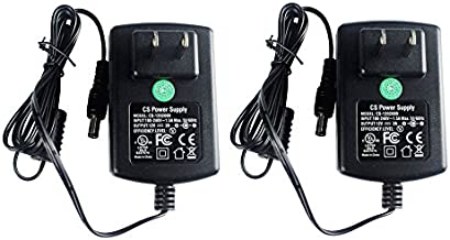 2 Pack AC Adapter DC 12V 2A Power Supply 5.5mm x 2.1mm for CCTV Cameras DVR Strip LED UL Listed FCC