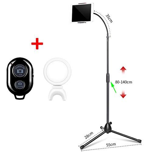 GYCOZ Tablet Houder, Flexibele Tablet Stand: Universele Luie Arm Verstelbare Houder Klem Bevestiging Beugel Bed Met Bluetooth Afstandsbediening En Vul Licht Mobiele telefoon houder