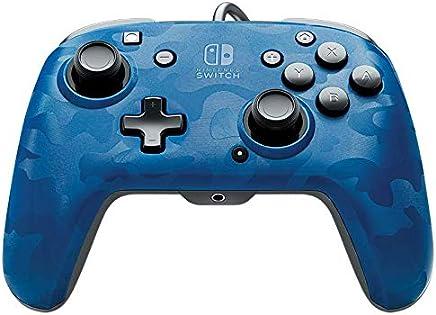 PDP Nintendo Switch Faceoff Deluxe+ 音频有线控制器 蓝色迷彩