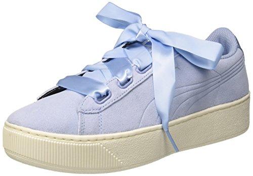 PUMA Damen Vikky Platform Ribbon S Sneaker, Blau (Cerulean-Cerulean), 40 EU