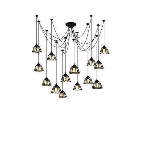 Lying Retro Branches chandeliers, l'industrie de la restauration créative Café 14 tête E27 trouver (taille : B)