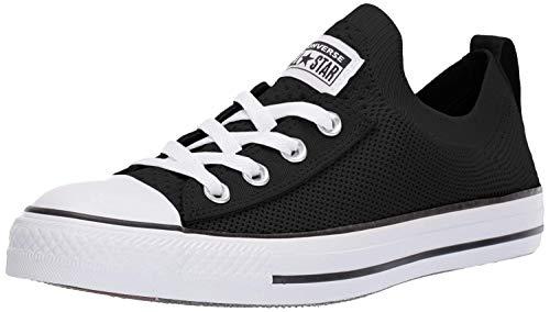 Converse Women's Chuck Taylor All Star Shoreline Knit Slip On Sneaker, Black/White/Black, 6 M US