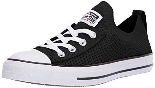 Converse Women's Chuck Taylor All Star Shoreline Knit Slip On Sneaker, Black/White/Black, 6.5 M US