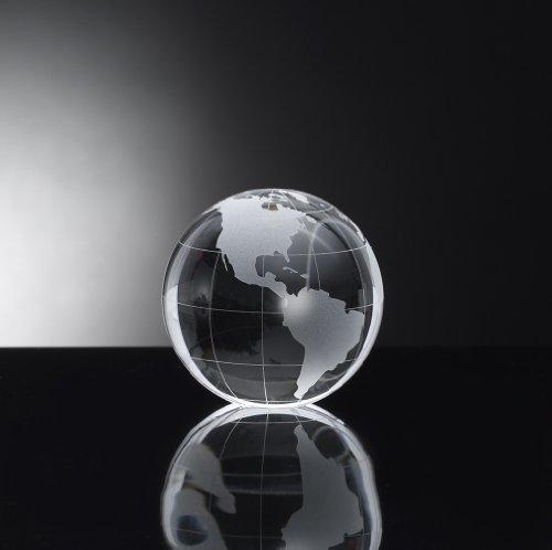 Oleg Cassini Globe Crystal Paperweight